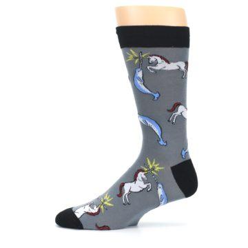 Image of Unicorn vs Narwhal Men's Dress Socks (side-2-11)