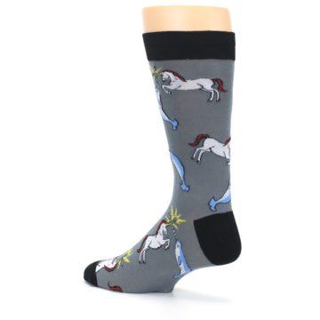 Image of Unicorn vs Narwhal Men's Dress Socks (side-2-back-14)