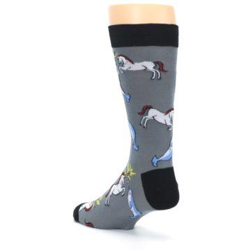 Image of Unicorn vs Narwhal Men's Dress Socks (side-2-back-15)