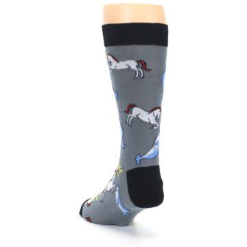 Image of Unicorn vs Narwhal Men's Dress Socks (side-2-back-16)