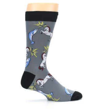 Image of Unicorn vs Narwhal Men's Dress Socks (side-1-24)