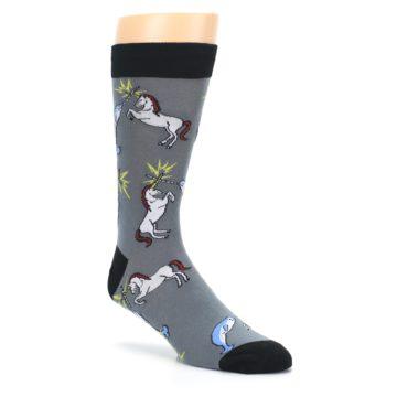 Image of Unicorn vs Narwhal Men's Dress Socks (side-1-27)