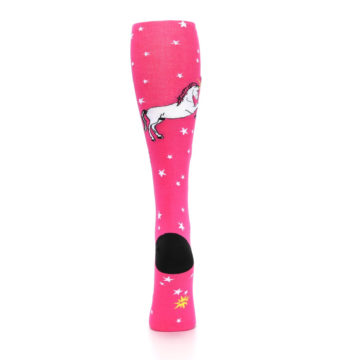 Image of Pink Unicorn vs Narwhal Women's Knee High Sock (back-18)