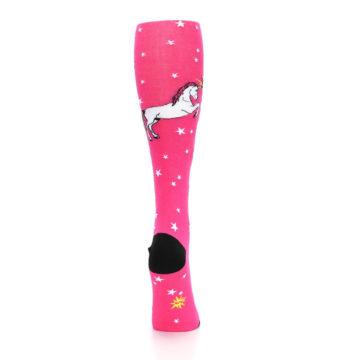 Image of Pink Unicorn vs Narwhal Women's Knee High Sock (back-19)