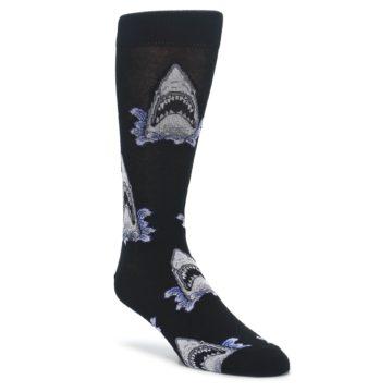 Black Shark Attack Mens Dress Socks Socksmith