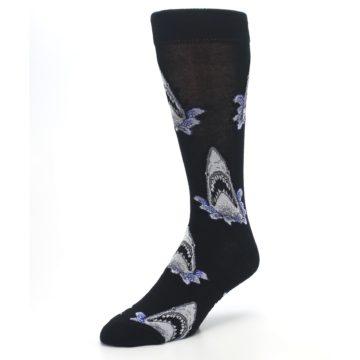 Image of Black Shark Attack Men's Dress Socks (side-2-front-08)