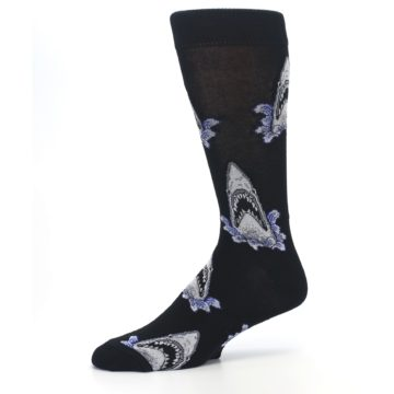 Image of Black Shark Attack Men's Dress Socks (side-2-10)