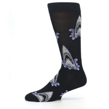 Image of Black Shark Attack Men's Dress Socks (side-2-11)