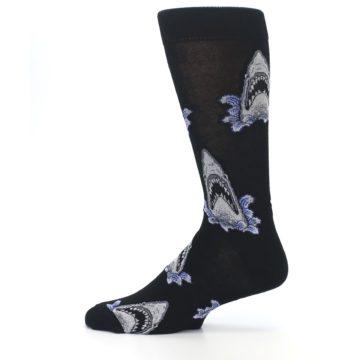 Image of Black Shark Attack Men's Dress Socks (side-2-12)