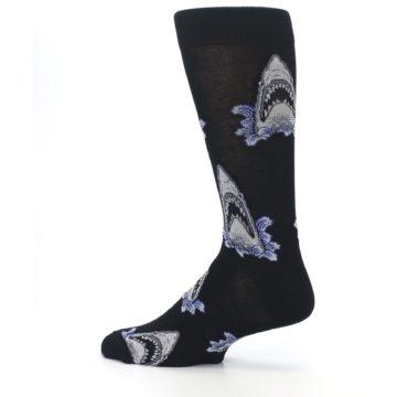 Image of Black Shark Attack Men's Dress Socks (side-2-13)