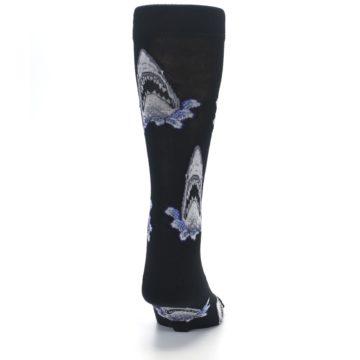 Image of Black Shark Attack Men's Dress Socks (back-19)