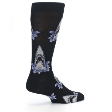 Image of Black Shark Attack Men's Dress Socks (side-1-23)