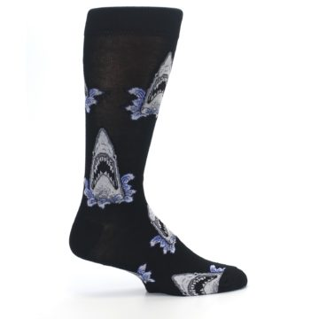 Image of Black Shark Attack Men's Dress Socks (side-1-24)