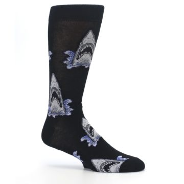 Image of Black Shark Attack Men's Dress Socks (side-1-25)