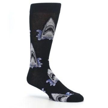 Image of Black Shark Attack Men's Dress Socks (side-1-26)