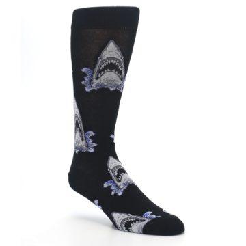 Image of Black Shark Attack Men's Dress Socks (side-1-27)