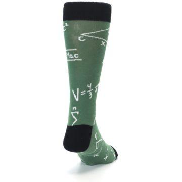 Image of Green White Math Equations Men's Dress Socks (side-1-back-20)