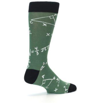 Image of Green White Math Equations Men's Dress Socks (side-1-23)