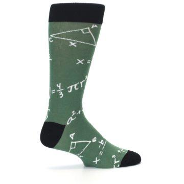 Image of Green White Math Equations Men's Dress Socks (side-1-24)