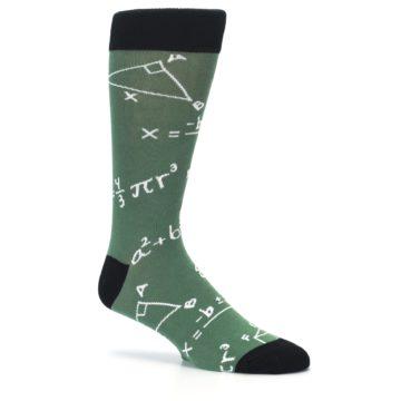 Image of Green White Math Equations Men's Dress Socks (side-1-26)