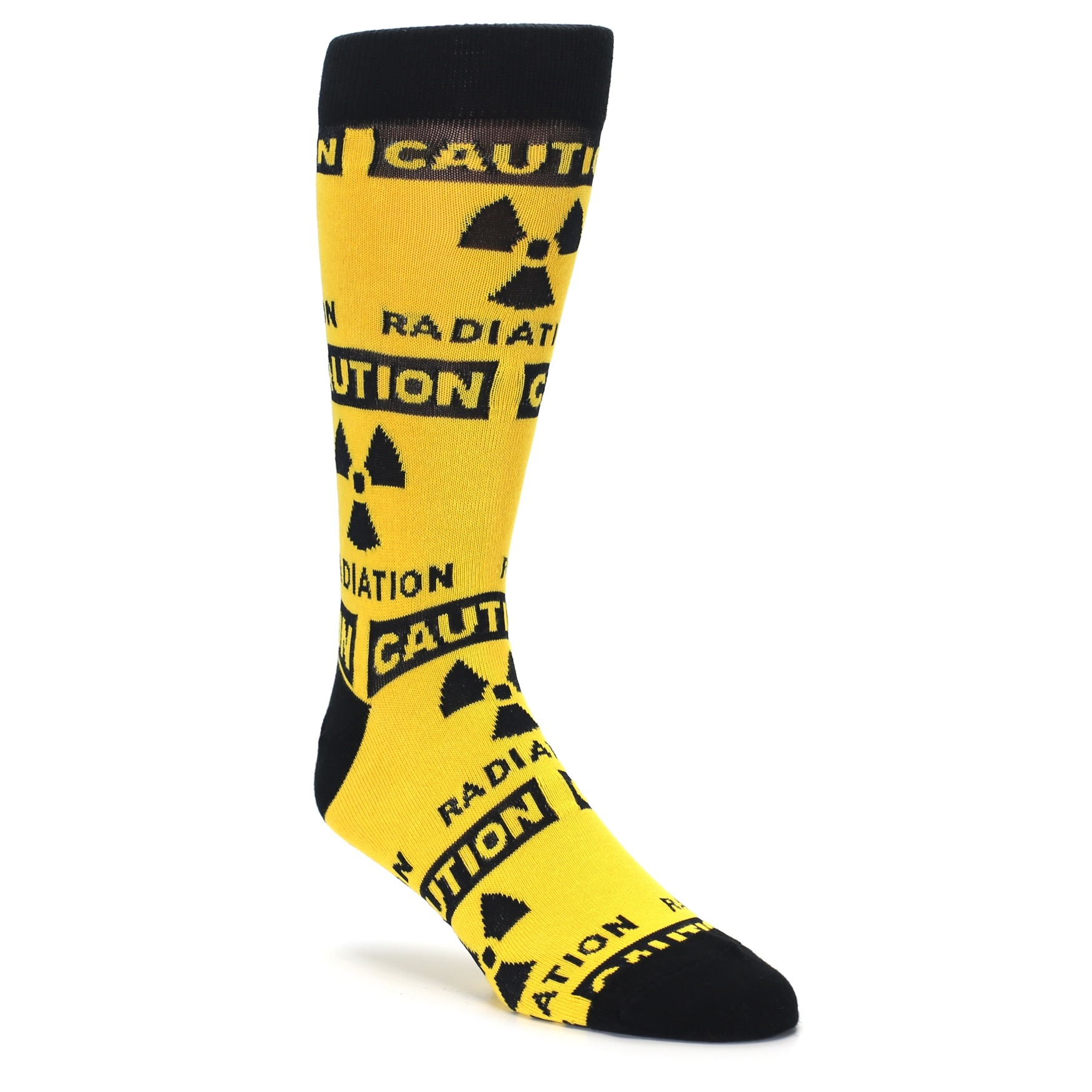 Great Novelty Gift Radioactive Symbol Socks