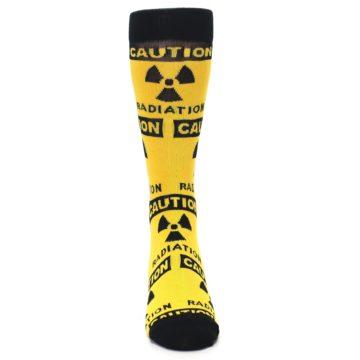 Image of Yellow Black Caution Radioactive Men's Dress Socks (front-04)