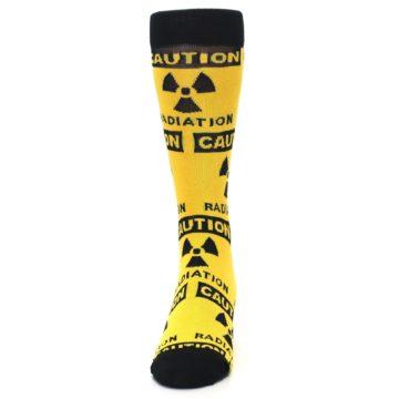Image of Yellow Black Caution Radioactive Men's Dress Socks (front-05)