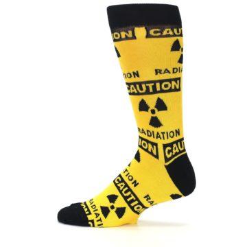 Image of Yellow Black Caution Radioactive Men's Dress Socks (side-2-12)