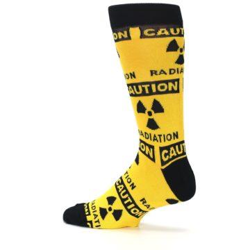 Image of Yellow Black Caution Radioactive Men's Dress Socks (side-2-13)