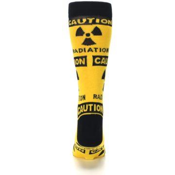 Image of Yellow Black Caution Radioactive Men's Dress Socks (back-18)