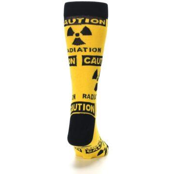 Image of Yellow Black Caution Radioactive Men's Dress Socks (back-19)