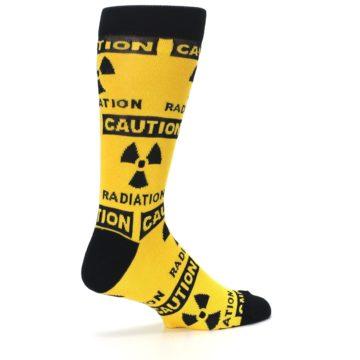 Image of Yellow Black Caution Radioactive Men's Dress Socks (side-1-23)