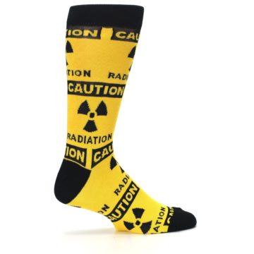 Image of Yellow Black Caution Radioactive Men's Dress Socks (side-1-24)