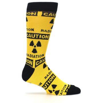 Image of Yellow Black Caution Radioactive Men's Dress Socks (side-1-25)