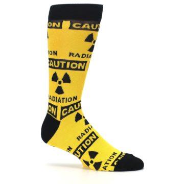 Image of Yellow Black Caution Radioactive Men's Dress Socks (side-1-26)