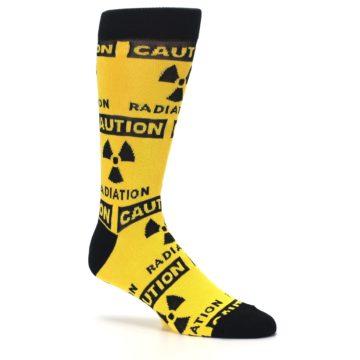 Image of Yellow Black Caution Radioactive Men's Dress Socks (side-1-27)