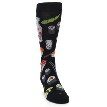 Image of Black Sushi Food Men's Dress Socks (side-1-front-03)