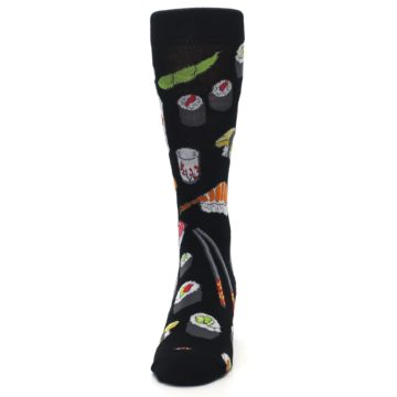 Image of Black Sushi Food Men's Dress Socks (front-05)