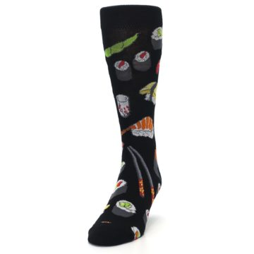 Image of Black Sushi Food Men's Dress Socks (side-2-front-06)