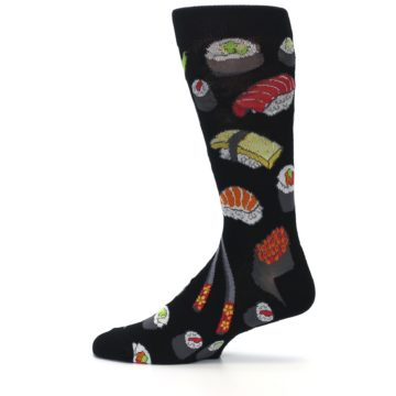 Image of Black Sushi Food Men's Dress Socks (side-2-12)