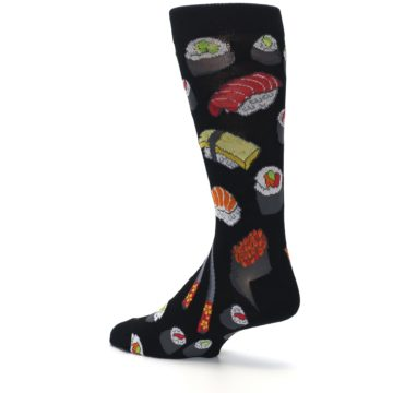 Image of Black Sushi Food Men's Dress Socks (side-2-back-14)