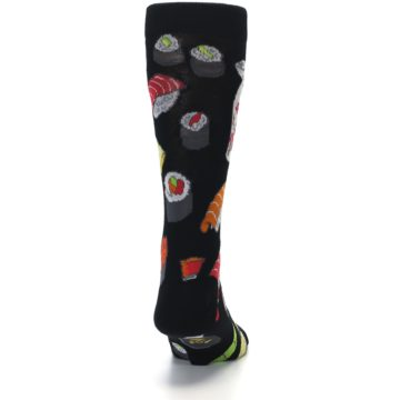 Image of Black Sushi Food Men's Dress Socks (back-19)