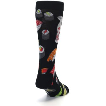 Image of Black Sushi Food Men's Dress Socks (side-1-back-20)