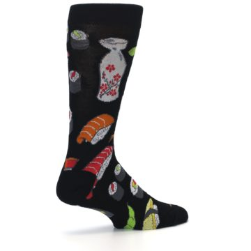 Image of Black Sushi Food Men's Dress Socks (side-1-23)