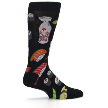 Image of Black Sushi Food Men's Dress Socks (side-1-24)