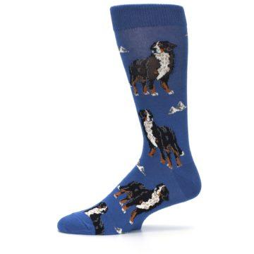 Image of Blue Bernese Dog Men's Dress Socks (side-2-11)
