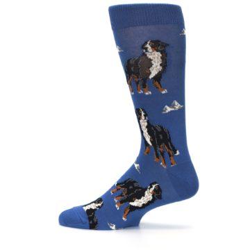 Image of Blue Bernese Dog Men's Dress Socks (side-2-12)