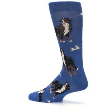Image of Blue Bernese Dog Men's Dress Socks (side-2-13)
