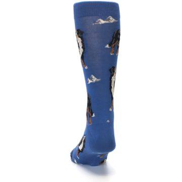 Image of Blue Bernese Dog Men's Dress Socks (back-17)