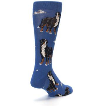 Image of Blue Bernese Dog Men's Dress Socks (side-1-back-21)
